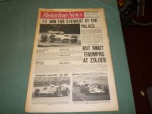 MOTORING NEWS 1970  May 28 F2 Crystal Palace & Zolder, Salzburg 2 litre, Indy Qual